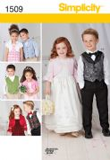 1509 Simplicity Pattern: Child's Waistcoat, Bolero and Bow Tie